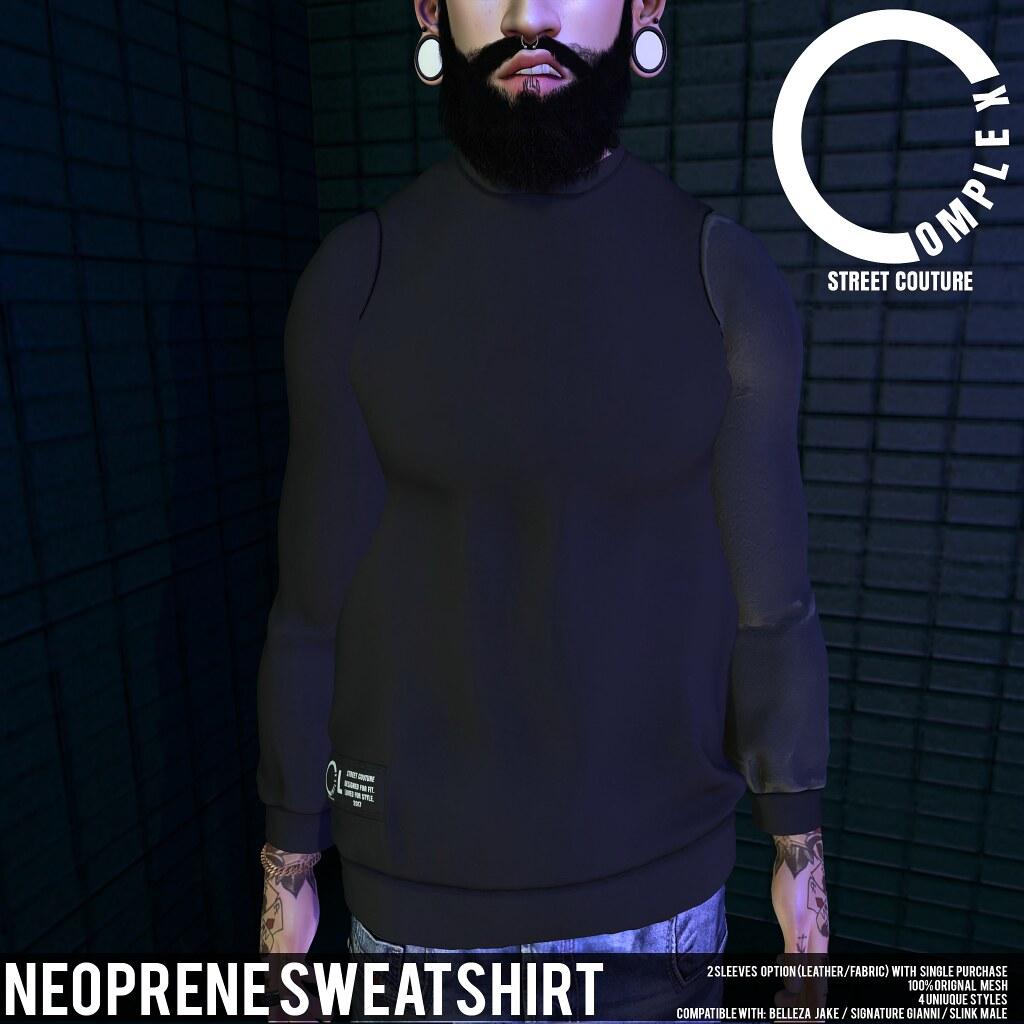 COMPLEX _ NEOPRENE SWEATSHIRT AD - TeleportHub.com Live!