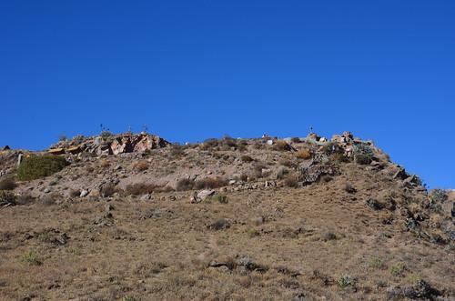 Kreuze an der Passhöhe Cruz del Condor