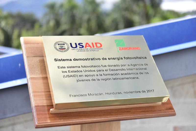 USAID y Zamorano: Inauguración techos solares