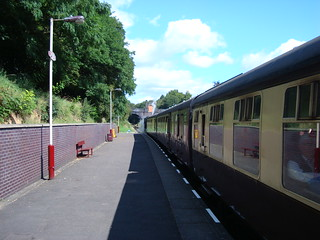 Steam train at Leicester North station
