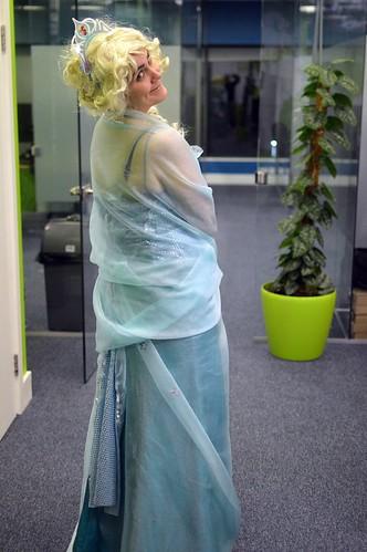 Homemade Adult Elsa Costume for Halloween | EvinOK.com