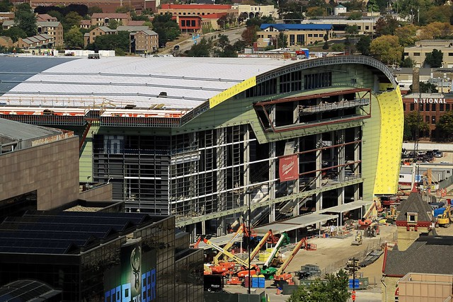 New Bucks Arena Under Construction