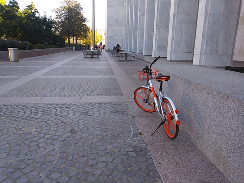 MoBike in front of Library of Congress Madison building