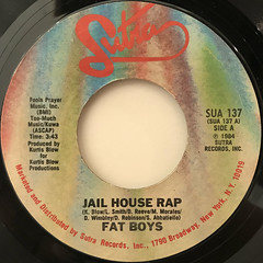FAT BOYS:JAIL HOUSE RAP(LABEL SIDE-A)