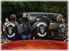 a gathering of the Motorcycle Clubs -Vikings and the Nordics *