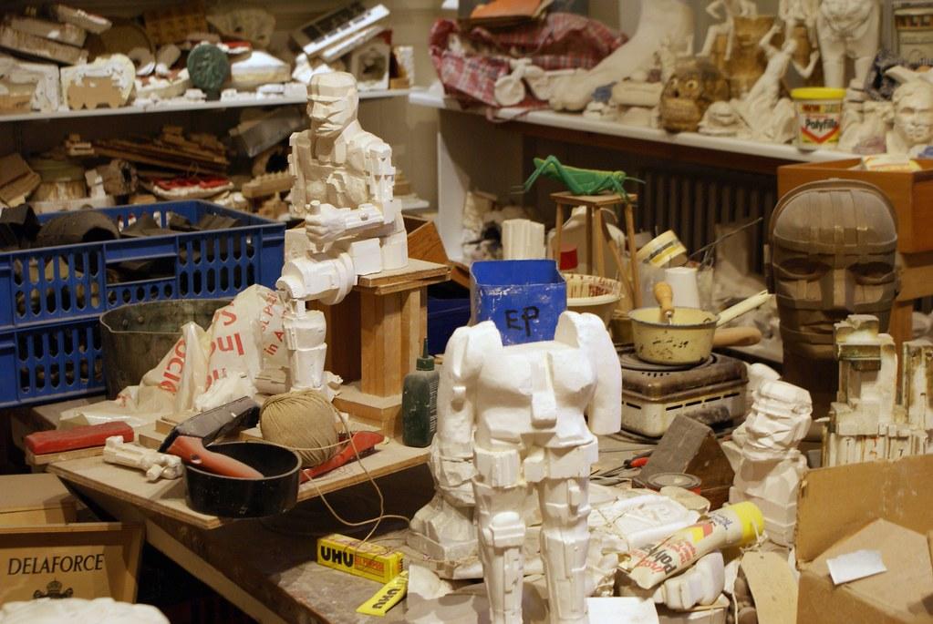 Atelier d'Eduardo Paolozzi au musée d'art moderne d'Edimbourg.