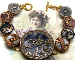 Antique button bracelet.