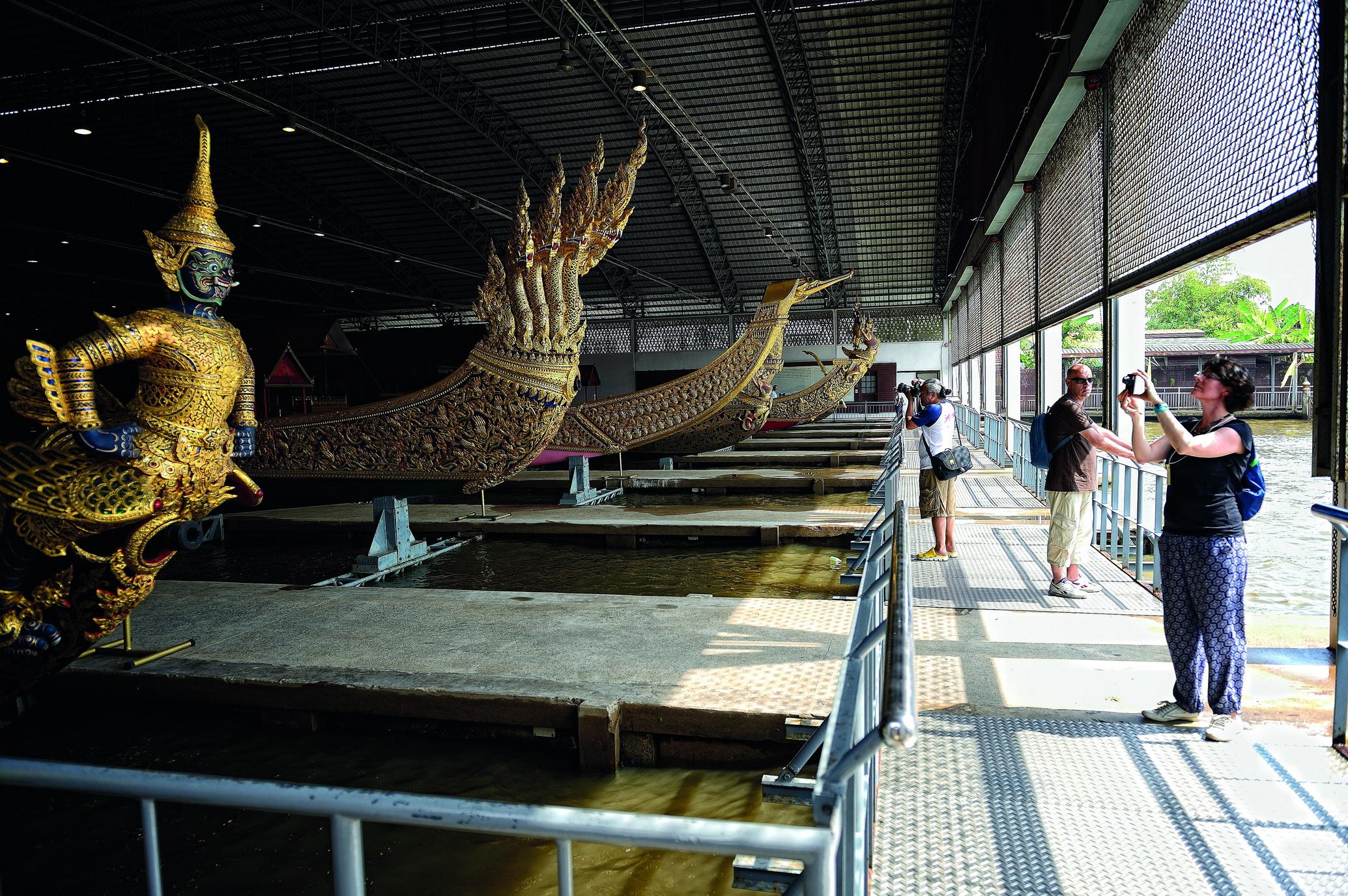 Barges at the Bangkok Royal Barge National Museum