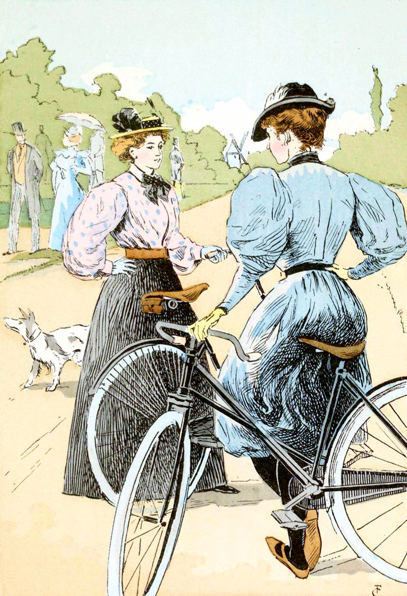 Bicycling; The Ladies of the Wheel by François Courboin, 1896