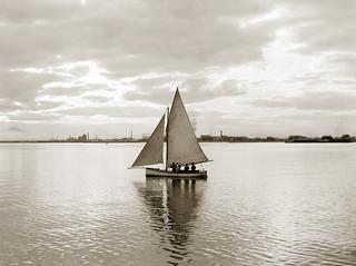 "5 June 1904 - ""Clouds & Yacht, St Kilda"", Melbourne, Victoria, Australia"