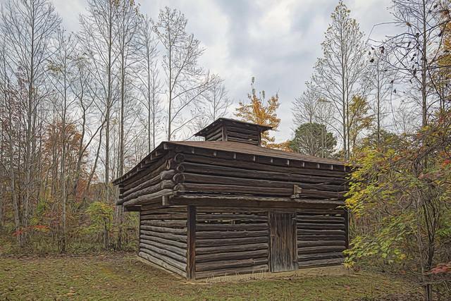 Log Cabin At Lake Katharine