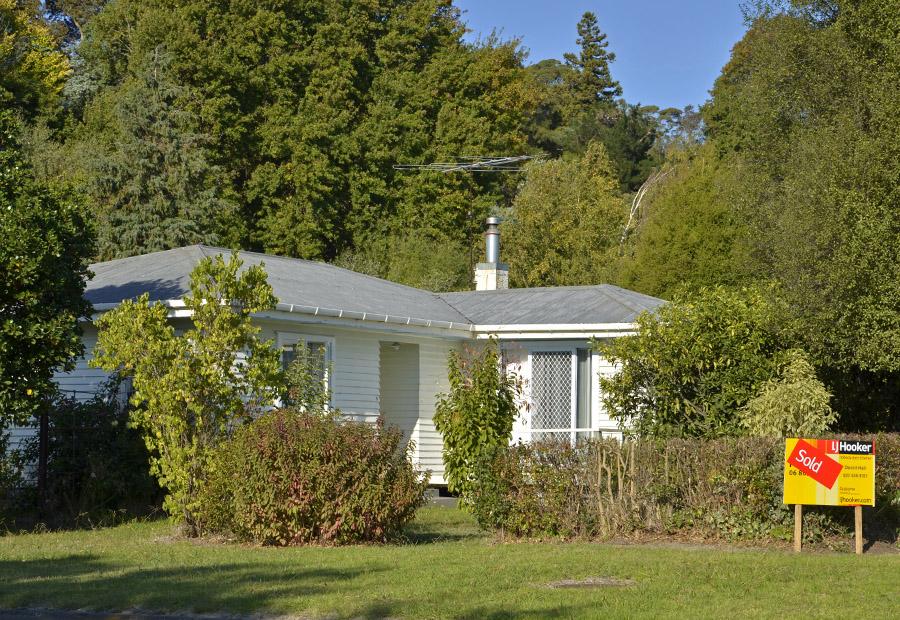 Ein Haus umgeben von Büschen und Bäumen kann kalt und feucht sein
