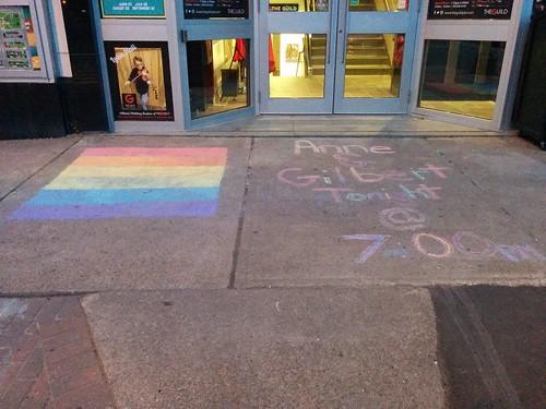 Anne & Gilbert, and the rainbow #pei #princeedwardisland #charlottetown #queenstreet #anneandgilbert #pride #rainbow #lgbtq #latergram
