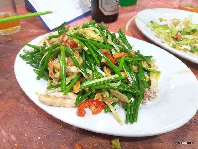 Sauteed Squid, Shrimps, and Vegetables