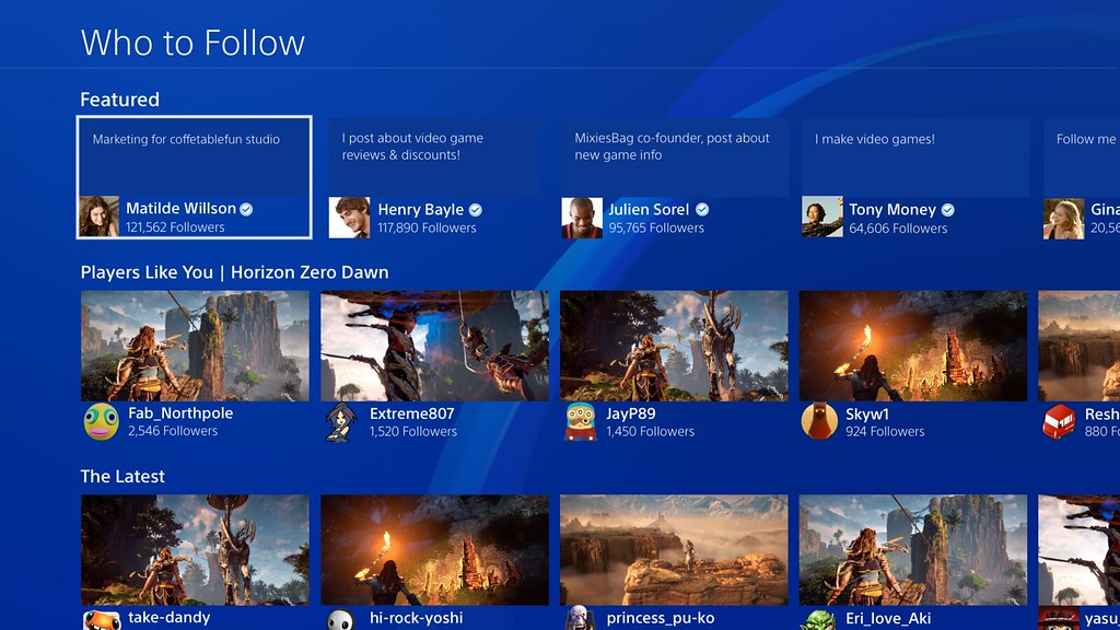 PS4 5.00 - Who To Follow