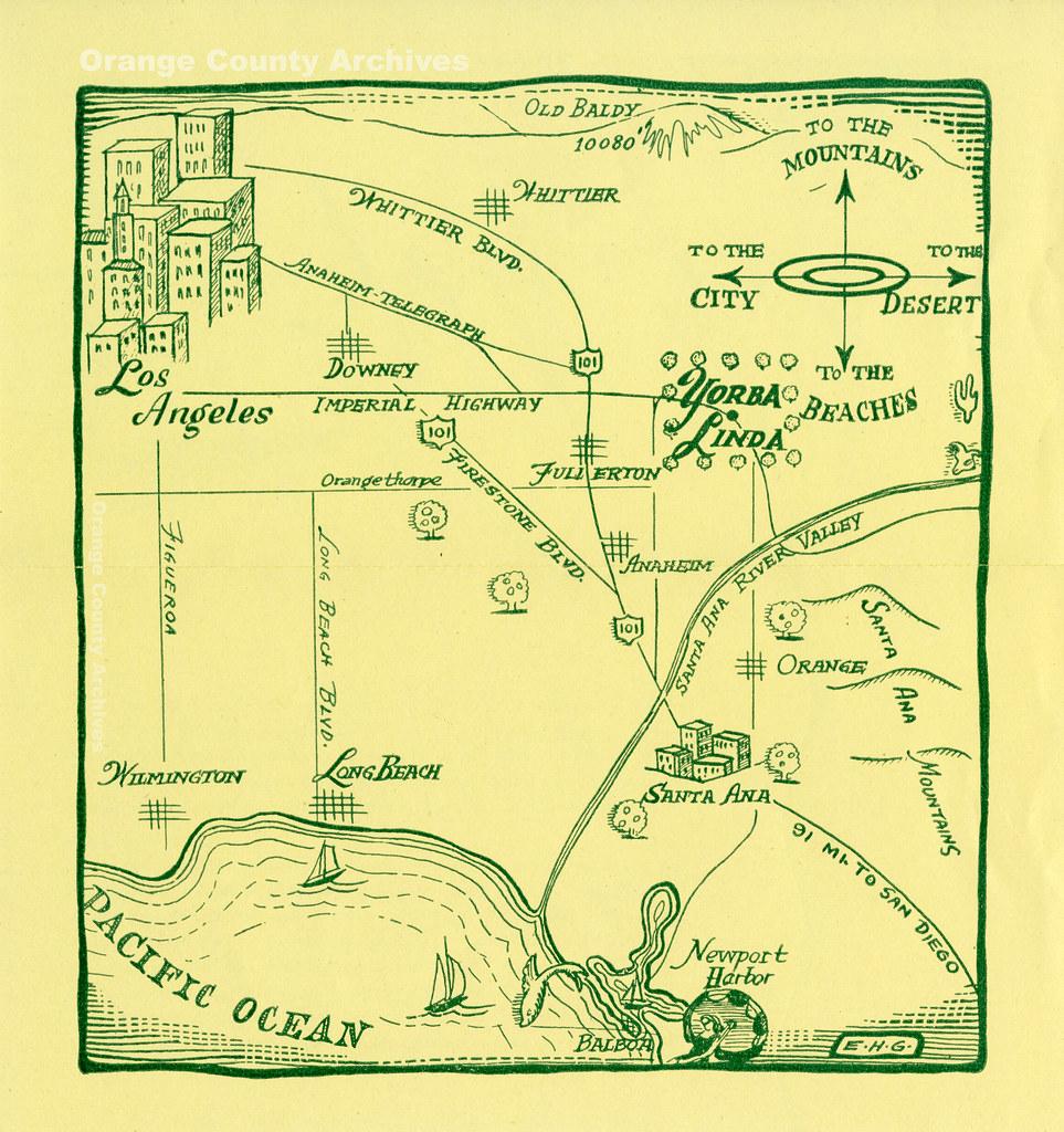 Where Is Yorba Linda California Map.Southern California Map Highlighting Yorba Linda Circa L Flickr
