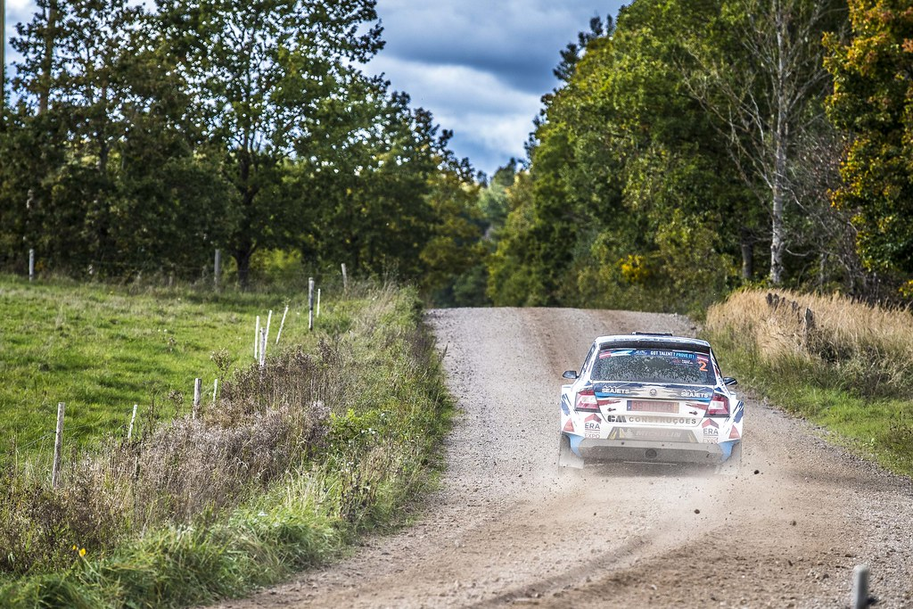 02 Magalhães Bruno and Magalhães Hugo, Škoda Fabia R5 action during the 2017 European Rally Championship ERC Liepaja rally,  from october 6 to 8, at Liepaja, Lettonie - Photo Gregory Lenormand / DPPI