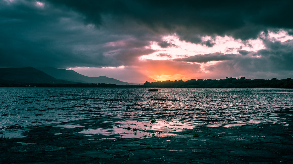 Sunset in Lough Leane, Killarney, Ireland picture