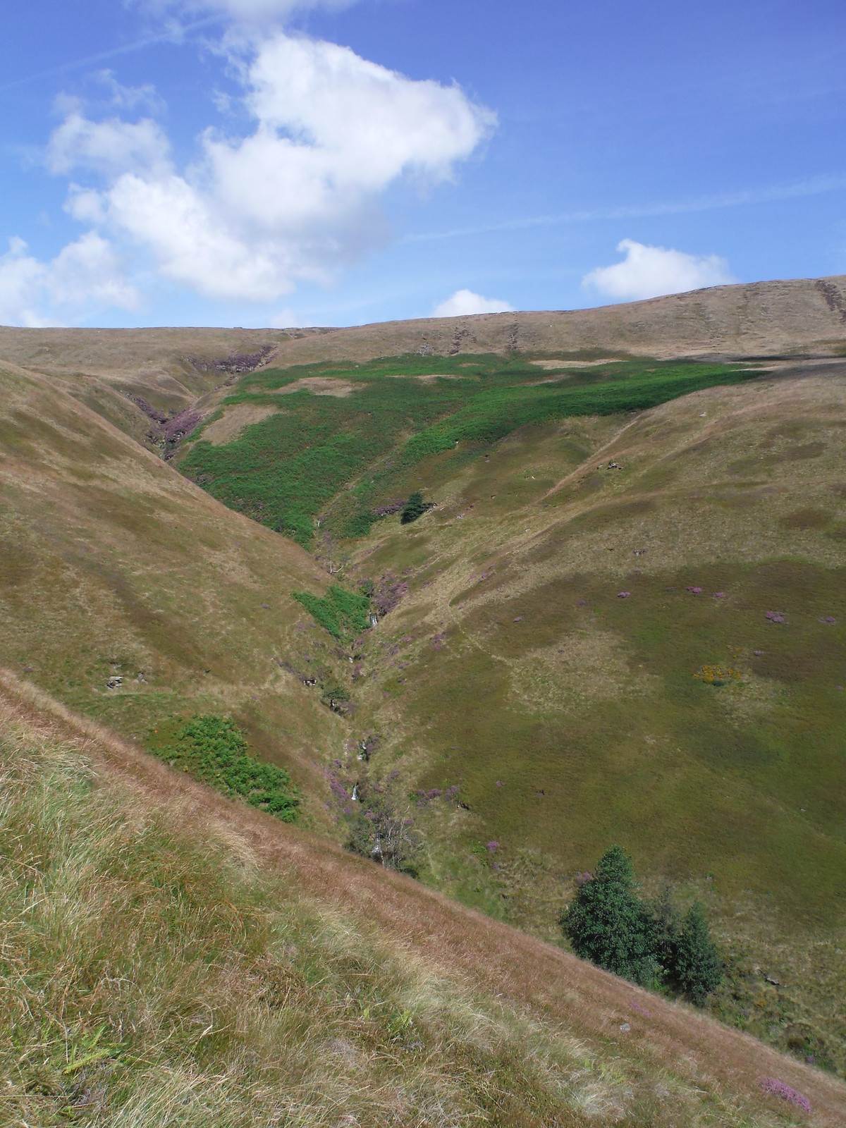 The Cascading River Noe, The Cloughs, Edale Head SWC Walk 303 - Edale Circular (via Kinder Scout and Mam Tor)