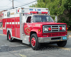 Northvale NJ Rescue Fire Truck, 2017 Northern Valley Fire Chiefs Parade, Northvale, New Jersey