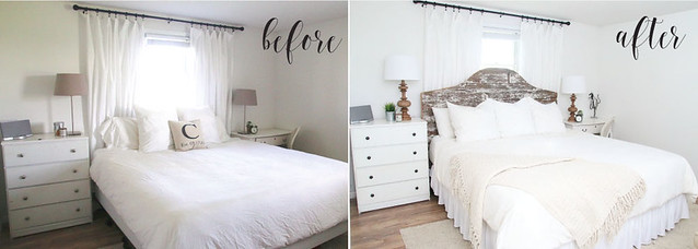 before after master bedroom