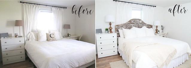 before after master bedroom