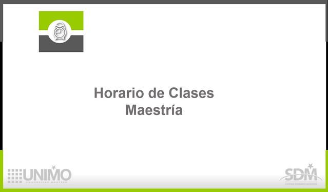 Horario Clases Maestría
