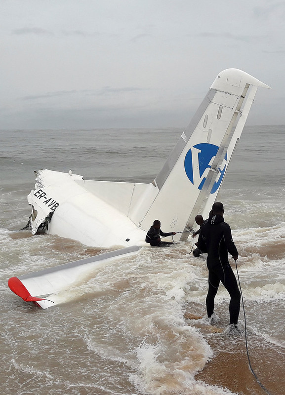 Cargo plane crashes into sea off Abidjan, Ivory Coast