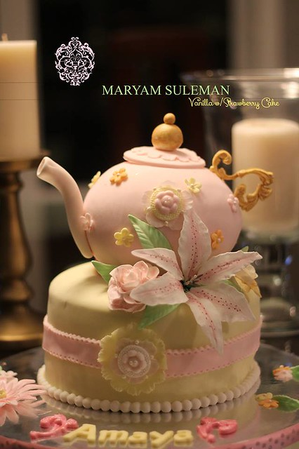 Teapot Cake by Maryam Suleman of Cakery Bakery