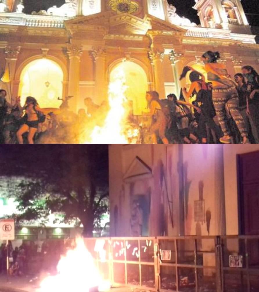 Incendio catedral Chaco