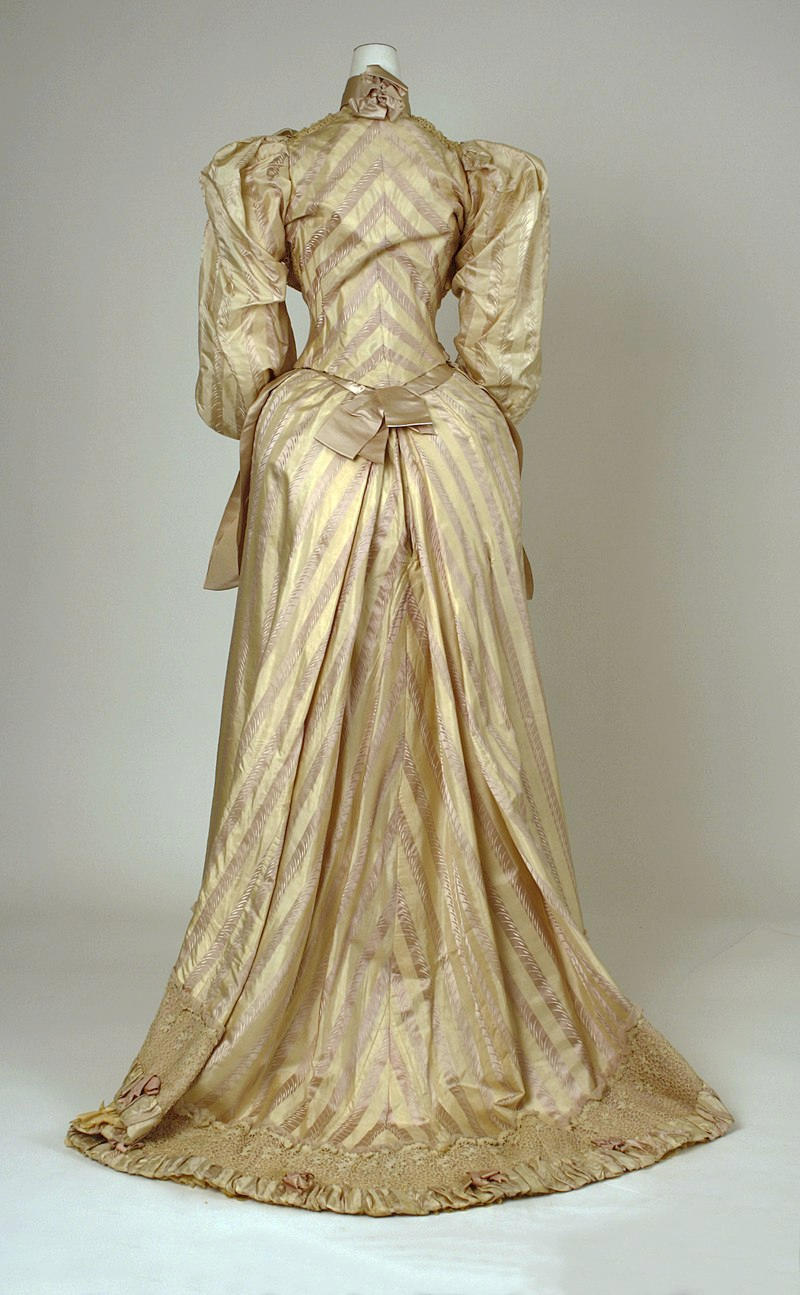 1892 Dress. American. Silk, cotton