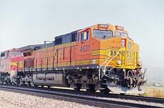 BNSF C44-9W No. 4631 Heading Towrad San Bernardino On Cajon Blvd.