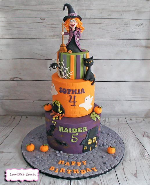 Halloween Cake by LoveZee Cakes