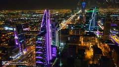 Capital of Riyadh - Night View from Al Faisaliah Tower
