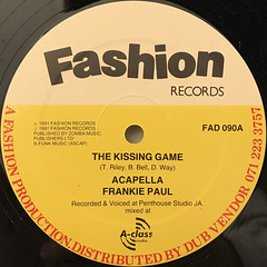 FRANKIE PAUL:THE KISSING GAME(LABEL SIDE-A)
