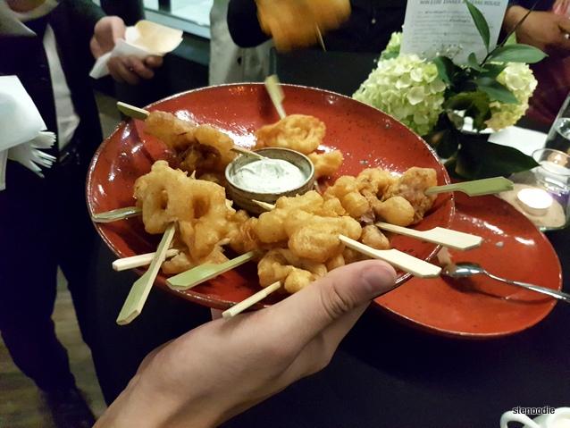 Calamari with Tzatziki Sauce