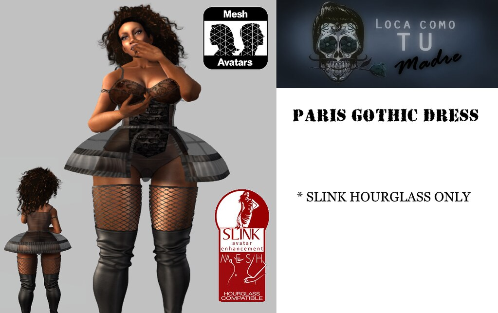 PARIS GOTHIC DRESS – S. HOURGLASS