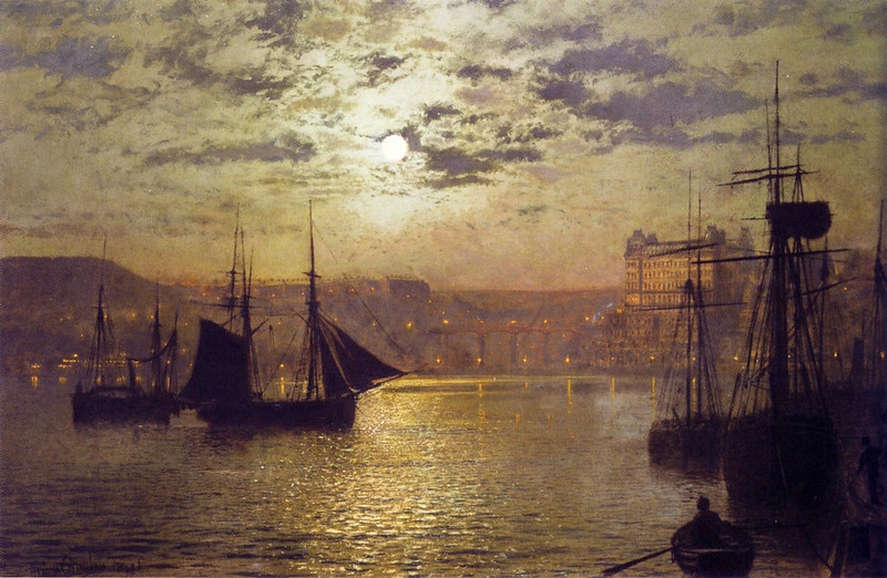 Scarborough by Moonlight by John Atkinson Grimshaw, 1876