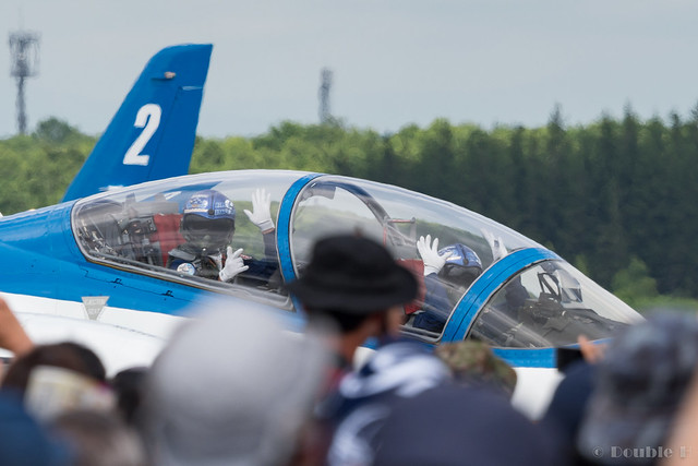 JASDF Chitose AB Airshow 2017 (111) Blue Impluse taxiing
