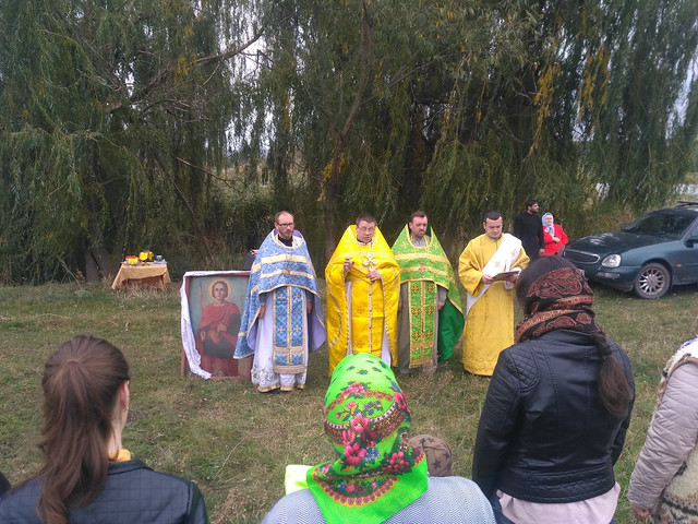 Божественна літургія в селі Бобрик Перший 15 жовтня 2017 року