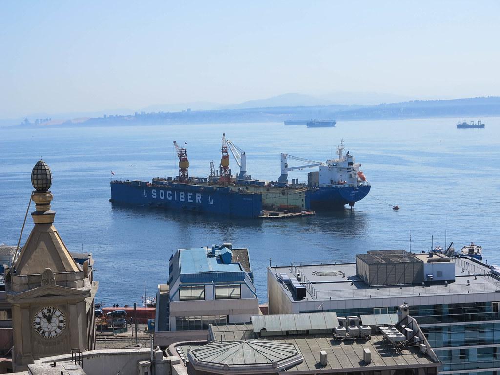 Puerto comercial de Valparaiso