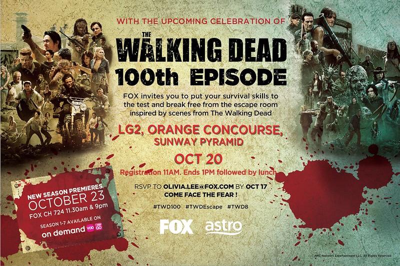 Media Invitation - The Walking Dead Escape Room