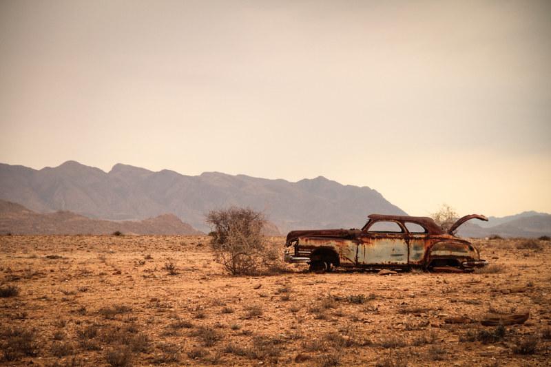 Oldtimer-Wüste-Steppe-Namibia