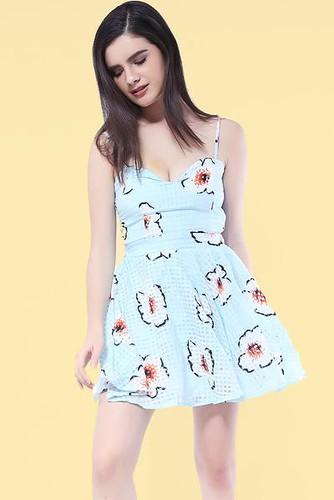 Spring break mini dress