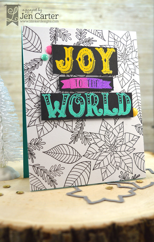 Jen Carter Joy to the World Festive Florals Black wm