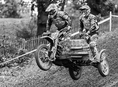 Side car black and white