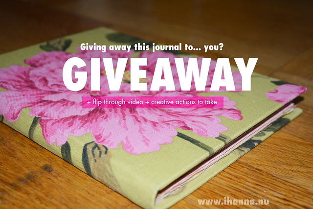 3 Fun Things: Art Journal Giveaway + New Video + Creative Actions