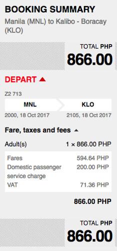 Manila to Kalibo AirAsia Promo Oct 18, 2017