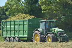 John Deere 7930 Tractor with a Broughan Engineering Mega HiSpeed Trailer