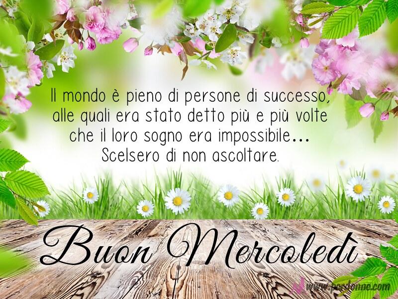 Buon Mercoledi Immagine Frase Motivazionale Amici Facebook Flickr
